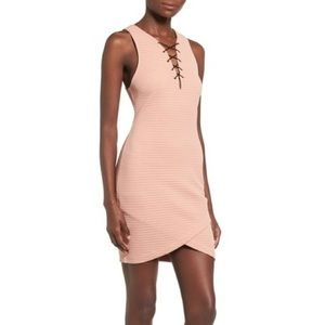 ASTR the label | Lace up body-con dress size S